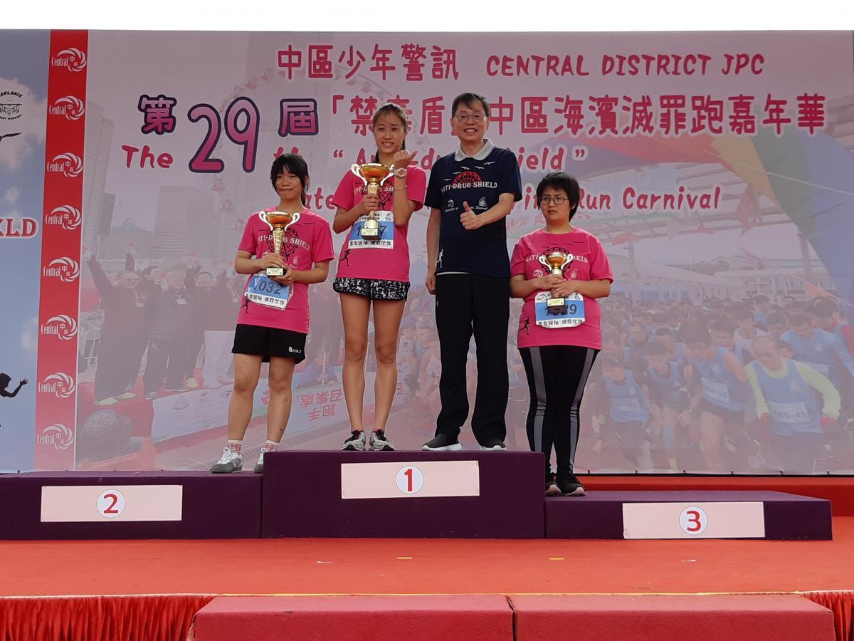2018-19年度,中六謝愷恩同學參與禁毒盾比賽,榮獲冠軍